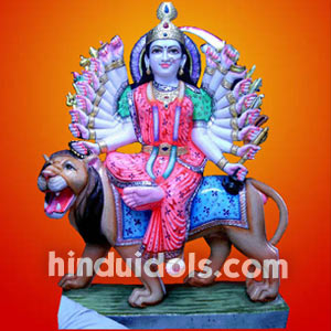 Durga Maa with multi arms Ht 3.5 fts