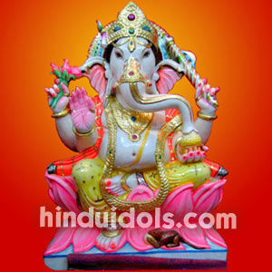 Ganesh with one Danda Ht 3.5 fts